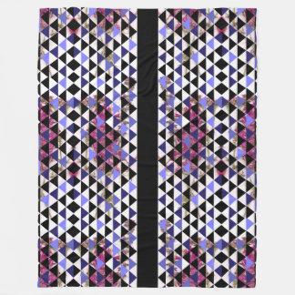 KCS毛布による花そしてタマキビの三角形 フリースブランケット