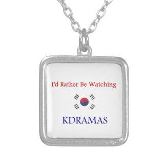 KDrama シルバープレートネックレス