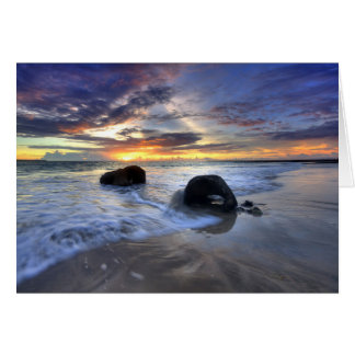 Kedongananのビーチの日没 カード