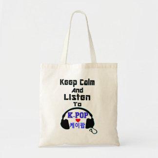 ♪♥Keepの平静はKPop Bugetのトートのbag♥♫に聞き、 トートバッグ