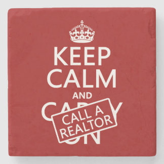 Keep Calm and Call A Realtor ストーンコースター