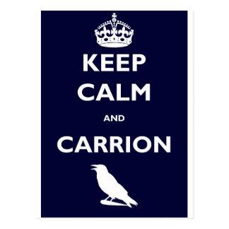 KEEP-CALM-AND-CARRION ポストカード