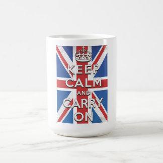 Keep Calm and Carry Onのイギリスの旗 コーヒーマグカップ