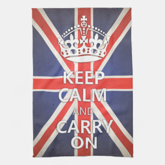Keep Calm and Carry Onのイギリス英国国旗 キッチンタオル