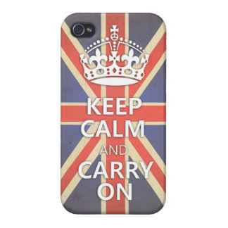 Keep Calm and Carry Onのイギリス英国国旗 iPhone 4/4Sケース