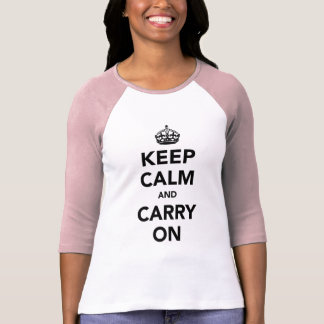 Keep Calm and Carry Onのオリジナル Tシャツ