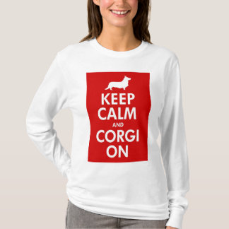 Keep Calm and Carry Onのカーディガンのワイシャツ Tシャツ