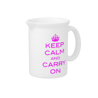 Keep Calm and Carry Onのピッチャー-バイオレット ピッチャー