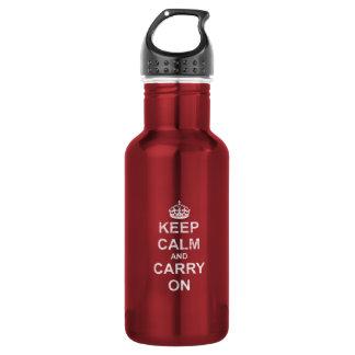 Keep Calm and Carry Onのヴィンテージ ウォーターボトル