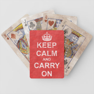 Keep Calm and Carry Onのヴィンテージ バイスクルトランプ