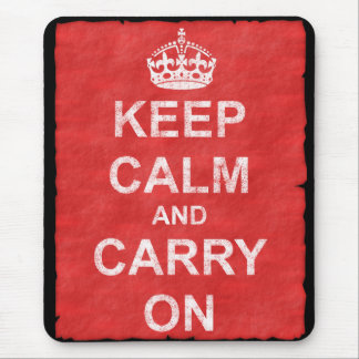 Keep Calm and Carry Onのヴィンテージ マウスパッド