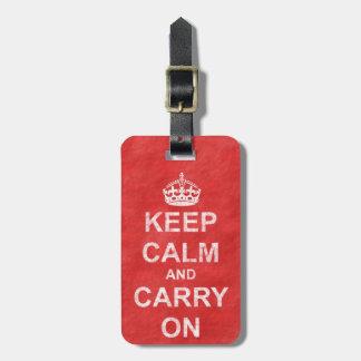 Keep Calm and Carry Onのヴィンテージ ラゲッジタグ