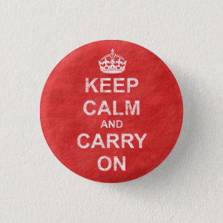 Keep Calm and Carry Onのヴィンテージ 3.2cm 丸型バッジ