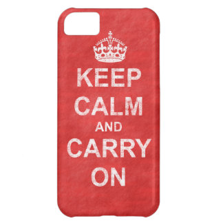 Keep Calm and Carry Onのヴィンテージ iPhone5Cケース