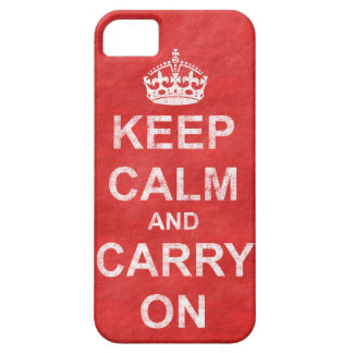 Keep Calm and Carry Onのヴィンテージ iPhone SE/5/5s ケース