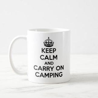 KEEP CALM AND CARRY ONの新しいキャンプのギフトの選択 コーヒーマグカップ