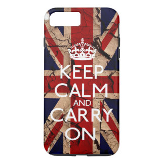 Keep Calm and Carry Onの汚れたヴィンテージイギリス iPhone 8 Plus/7 Plusケース