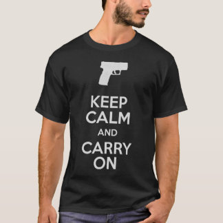 Keep Calm and Carry Onの火器XDのSubCompact Tシャツ