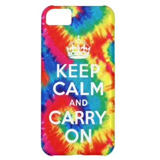 Keep Calm and Carry Onの絞り染めのレトロのiPhone 5の場合 iPhone5Cケース