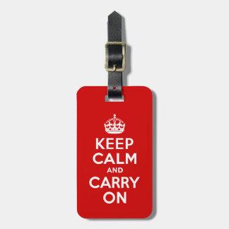 Keep Calm and Carry Onの荷物のラベル ラゲッジタグ