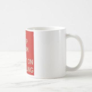 Keep Calm and Carry Onの賭博 コーヒーマグカップ