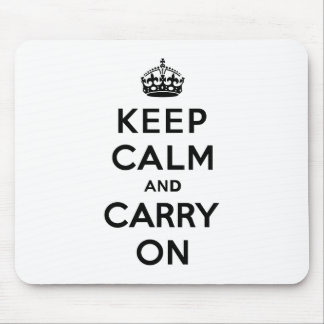 Keep Calm and Carry Onの黒い文字 マウスパッド