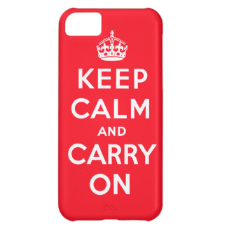 Keep Calm and Carry OnのiPhoneの場合 iPhone 5C ケース