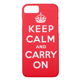 Keep Calm and Carry OnのiPhoneの場合 iPhone 7ケース