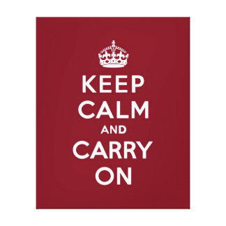 Keep Calm and Carry Onのmadder湖 キャンバスプリント