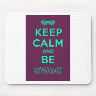 Keep Calm and Carry Onはスワッグのサングラスです マウスパッド