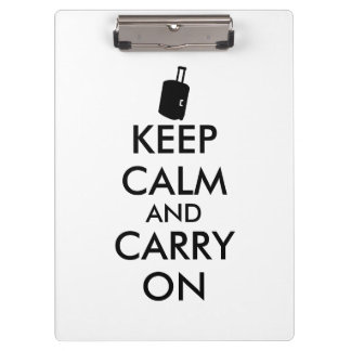 Keep Calm and Carry On旅行カスタム クリップボード
