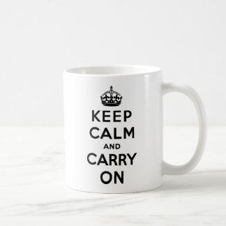 Keep Calm and Carry On コーヒーマグカップ