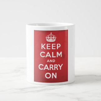 Keep Calm and Carry On ジャンボコーヒーマグカップ