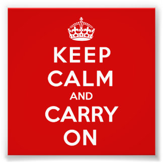 Keep Calm and Carry On フォトプリント