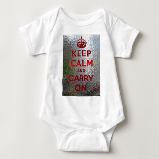 Keep Calm and Carry On ベビーボディスーツ
