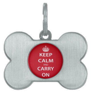 Keep Calm and Carry On ペットネームタグ