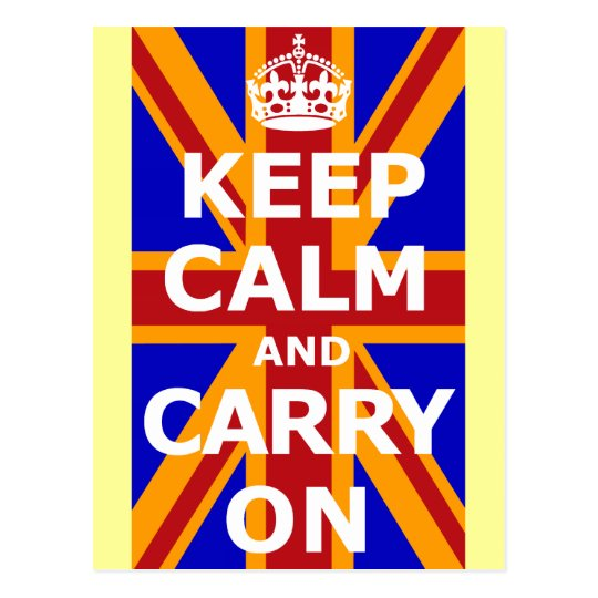 KEEP CALM AND CARRY ON ポストカード