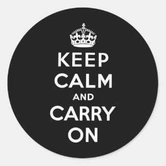 Keep Calm and Carry On ラウンドシール
