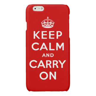 Keep Calm and Carry On 光沢iPhone 6ケース