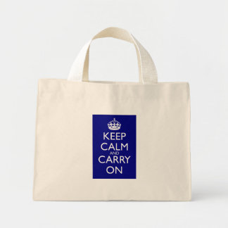 Keep Calm and Carry On: 濃紺 ミニトートバッグ