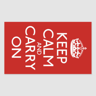 Keep Calm and Carry On 長方形シール