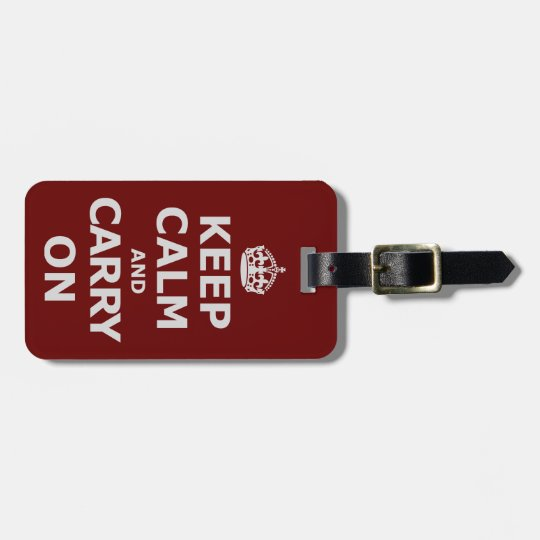 KEEP CALM AND CARRY ON 3 ラゲッジタグ
