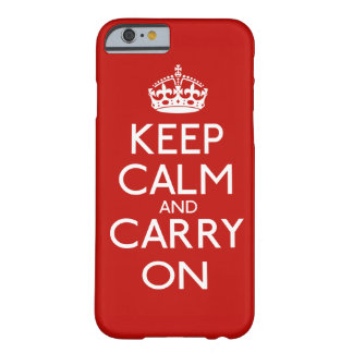 Keep Calm and Carry On Barely There iPhone 6 ケース