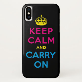 keep calm and carry on CMYK iPhone X ケース