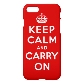 Keep Calm and Carry On iPhone 8/7 ケース