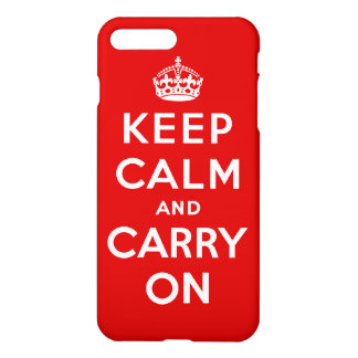 Keep Calm and Carry On iPhone 8 Plus/7 Plusケース