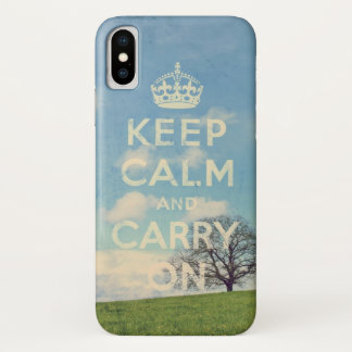 keep calm and carry on iPhone x ケース