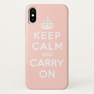 keep calm and carry on Original iPhone X ケース