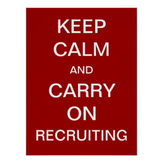 Keep Calm and Carry On Recruiting - HR ポスター