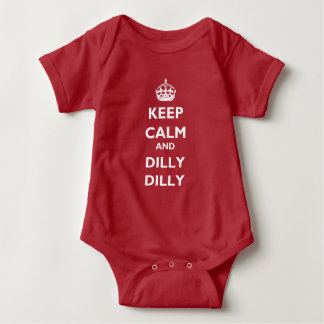 Keep Calm and Dilly Dilly Baby Jersey Bodysuit ベビーボディスーツ